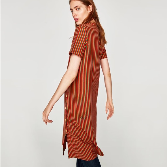 db5b8172cfc Striped dress with button details